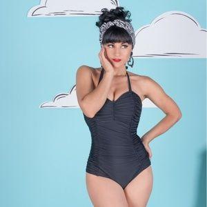 Tatyana Rosie Black One Piece Swimsuit 2X